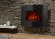 Benross PTC Ceramic Oscillating Fireplace Flame Effect Heater, 1500 W, Black 220Volts (NOT FOR USA)